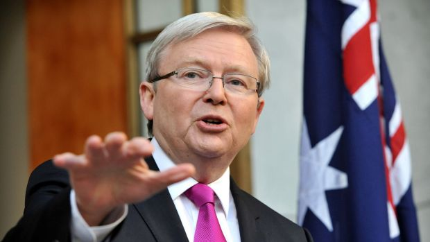 Kevin Rudd is a former prime minister of Australia. Photograph: Mark Graham/Bloomberg