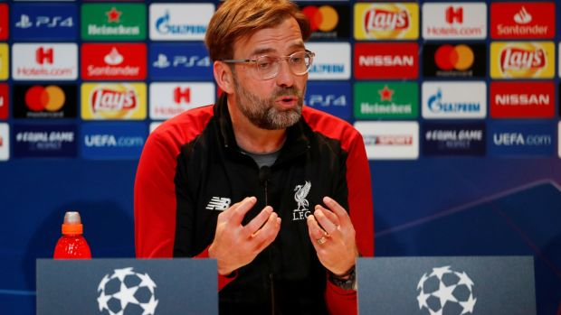 Jürgen Klopp: 'We are not like kids thinking if we do not win it in the first leg we have no chance.' Photograph: Action Images via Reuters/Andrew Boyers