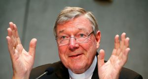 Cardinal George Pell has been jailed for six years. File photograph: Tony Gentile/Reuters