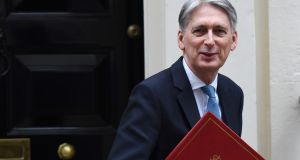 Britain's chancellor of the exchequer Phillip Hammond: emphasised the necessity of a Brexit deal for the economy. Photograph: Andy Rain/EPA