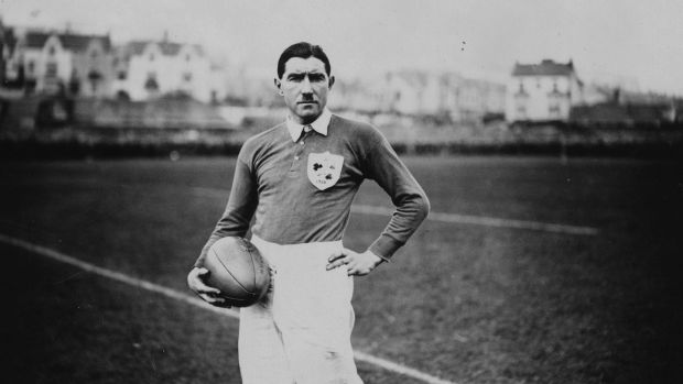 Irish captain Ernie Crawford before the match against Wales in Swansea on March 13th 1926. Photo: Kirby/Topical Press Agency/Getty Images