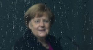 German chancellor Angela Merkel: she is increasingly deferring to her successor, Annegret Kramp-Karrenbauer. Photograph:  Tobias Schwarz/AFP