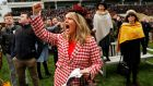 Racegoers react during the 2.50 Coral Cup Handicap Hurdle. Photograph: Eddie Keogh/Reuters