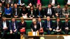 UK prime minister Theresa May (front centre) in the House of Commons. Photograph: Mark Duffy/UK Parliament/AFP/Getty