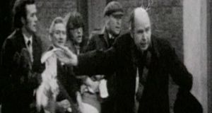 Bishop Daly was filmed waving a bloody handkerchief on Bloody Sunday. Photograph: RTÉ Archives