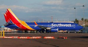 Grounded: Southwest Airlines Boeing 737 Max aircraft on the tarmac in Arizona. Photograph: Ralph Freso/Getty