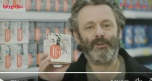 Actor Michael Sheen appears in a video as part of the campaign to encourage more fathers to speak to their daughters about periods.