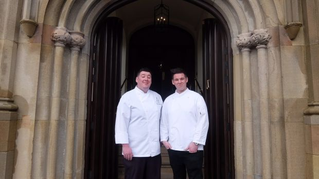 Brothers Richard and Andrew McKee who are head chef and sous chef at Lough Eske Castle