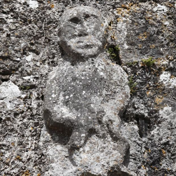 Sheela-na-gig: the medieval stone carvings show folk deities associated with birth and death. Photograph: Getty