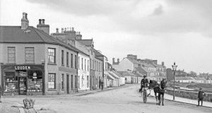 Old photo of Shore Street, Bangor.
