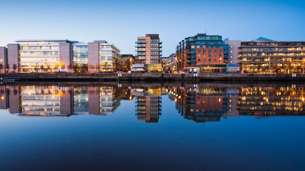 Dublin's docklands. For high net worth individuals in banking and finance, Dublin's cost of living probably doesn't matter all that much – particularly if they've spent time in one of the even-more-expensive hubs, such as London, Sydney or San Francisco. Photograph: Getty Images