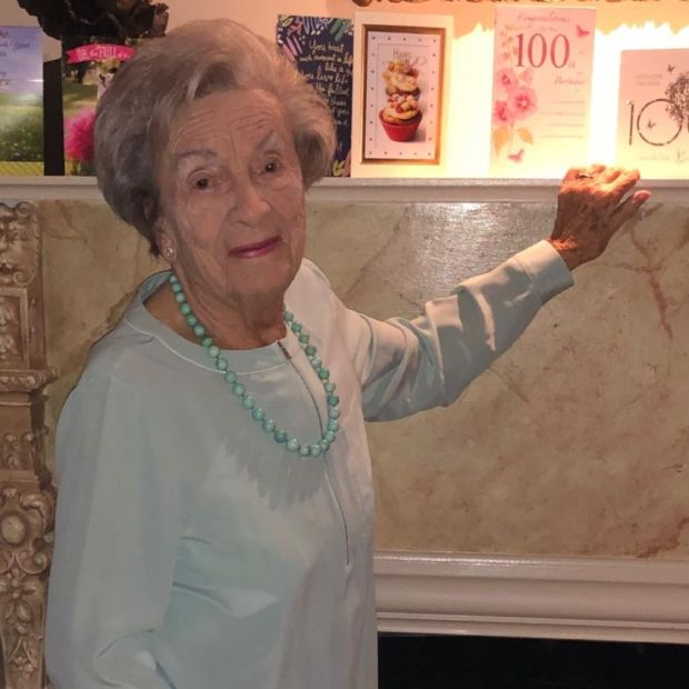 Marian Raphael celebrating her 100th birthday
