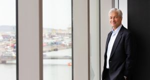 "JP Morgan chief executive Jamie Dimon: Dublin HQ is set to receive little by way of an initial ""Brexit dividend"" in terms of additional staff. Photograph: Tom Honan"