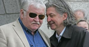Pat Laffan (left) with  Fiaich Mac Conghail, former artistic director of the Abbey Theatre. File photograph: Eric Luke