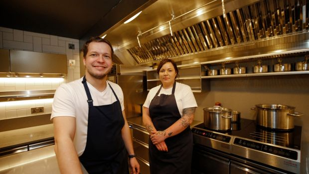 Chefs Jozef Radacovsky and Roisin Gillen preparing for Liath's first night open on Friday.