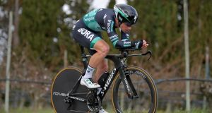Sam Bennett of Ireland and Team Bora-Hansgrohe during stage five of Paris-Nice. Photograph: Justin Setterfield/Getty Images