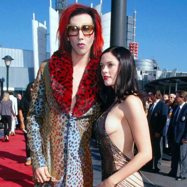 Rose McGowan with Marilyn Manson in 1998. Photograph: WireImage/Getty