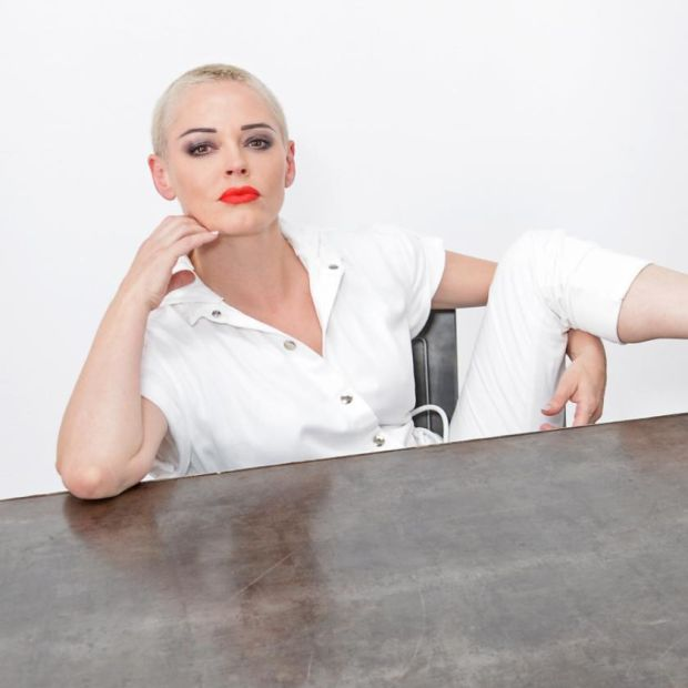 Rose McGowan at London Fashion Week in September 2018. Photograph: Dave Benett/Getty