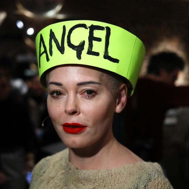 Rose McGowan at London Fashion Week last month. Photograph: Tim Whitby/BFC/Getty
