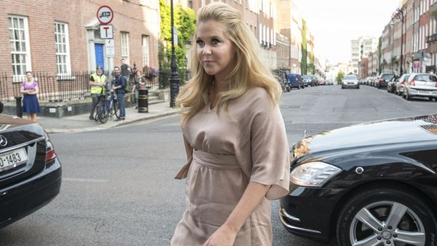 Amy Schumer arriving at Belvedere College in Dublin in 2015. Photograph: Dave Meehan