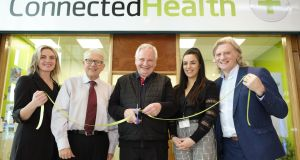 Theresa Morrison, training director, Connected Academy; Prof George Crooks chairman of clinical and social care governance board; Brian O'Connor, chairman of Connected Health Group; Naomi Corr, trainer; and Douglas Adams, chief executive, Connected Health