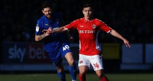 Josh Cullen in action for Charlton Athletic where he is on loan from West Ham. Photograph: Ker Robertson/Getty Images