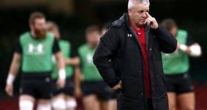 Wales head coach Warren Gatland during the Captain's Run. Photograph: James Crombie/Inpho