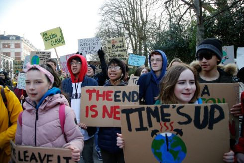 March for Climate Change which went from Stephen's Green to The Dail.  Photograph Nick Bradshaw for The Irish Times