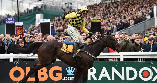 28352dac0 Irish jockey Paul Townend rides Al Boum Photo to win the Gold Cup on the  final