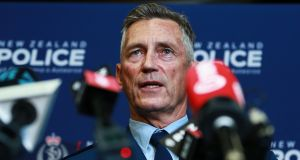New Zealand police commissioner Mike Bush said the three attackers had not been on any police watchlists. Photograph:  Hagen Hopkins/Getty Images