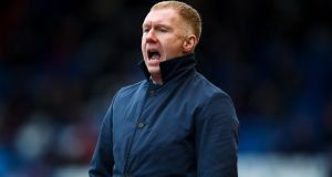 Paul Scholes, who resigned as Oldham Athletic manager by text after just 31 days in the job. Photograph: Robbie Jay Barratt/AMA/Getty Images