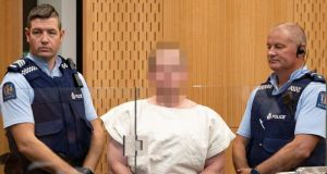 Brenton Tarrant, charged for murder,  appear in the Christchurch district court, in New Zealand on March 16th. Photograph: Mark Mitchell/New Zealand Herald/Pool/Reuters