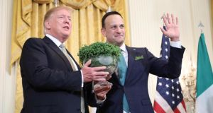 Taoiseach Leo Varadkar and  US president Donald Trump in the White House on March 14th. Photograph: Department of the Taoiseach/Government Press Office
