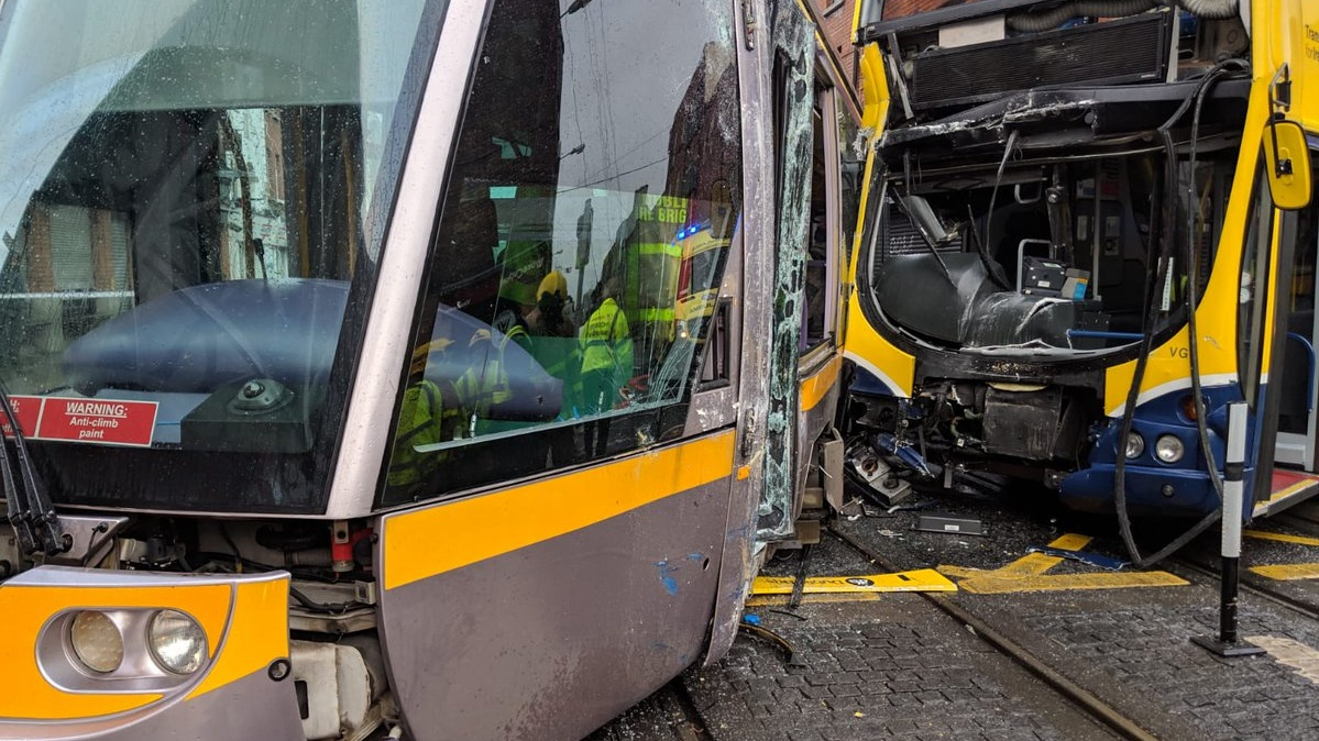Luas Red Line services return to normal after tram crash