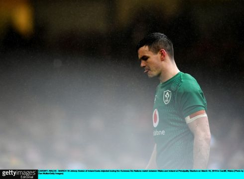 Johnny Sexton of Ireland during the game. Photo: Dan Mullan/Getty Images