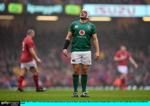 Rory Best watches a Welsh penalty. Photo: Dan Mullan/Getty Images