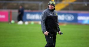Donegal manager Declan Bonner watched his team beat Cork on Saturday. Photograph: Lorcan Doherty/Inpho