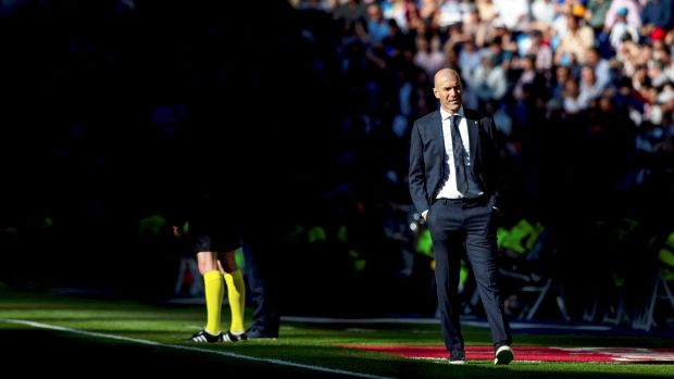 Zinedine Zidane got off to a winning start in his second spell in charge at Real Madrid. Photo: Rodrigo Jimenez/EPA