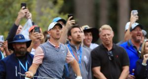 Rory McIlroy on the 10th hole during the third round of The Players Championship at TPC Sawgrass. Photograph: Sam Greenwood/Getty Images