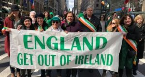 'Grow up Mary Lou': Sinn Féin leader criticised over St Patrick's Day banner