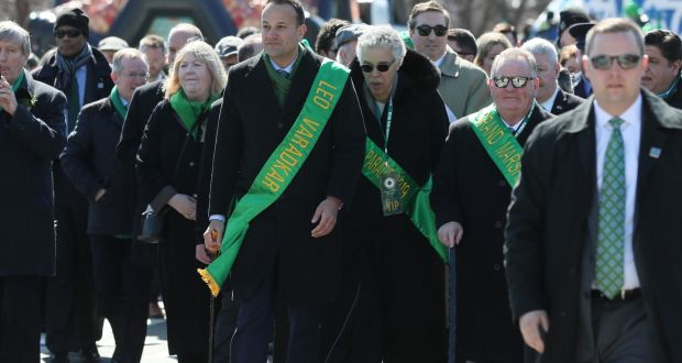 Taoiseach Leo Varadkar at the Chicago St Patrick's Day parade in the US on Saturday. Photograph: Brian Lawless/PA
