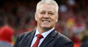 Wales coach Warren Gatland following their Grand Slam victory at the Principality Stadium. Photograph: David Davies/PA