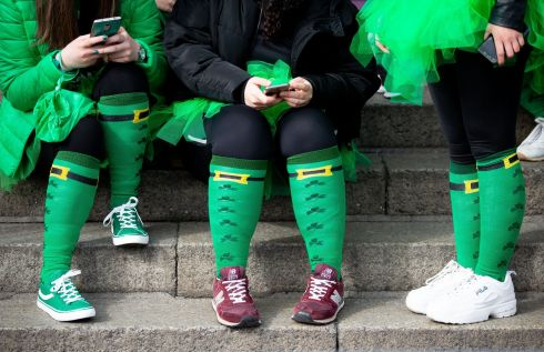 St. Patrick's Festival Parade, Dublin. A view of St Patrick Day Socks Photo: Tom Honan for The Irish Times.