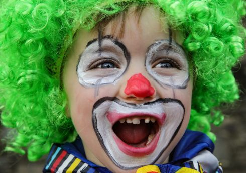 Just Clowning around Finn McDonald, (4) from Bellview Woods Childcare, taking part in St Patrick's Festival Parade in  Killarney for the parade.Photo:Valerie O'Sullivan