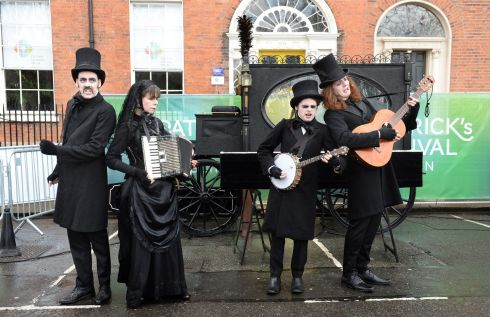 Morbid & Sons perform at the Festival Village, Merrion Square, Dublin as part of St. Patricks Festival at the weekend. Photograph: Dara Mac Donaill / The Irish Times