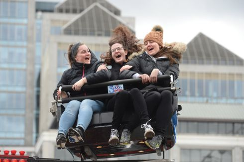 City at Play, Funfair on Custom House Quay, Dublin as part of St. Patricks Festival at the weekend. Photograph: Dara Mac Donaill / The Irish Times