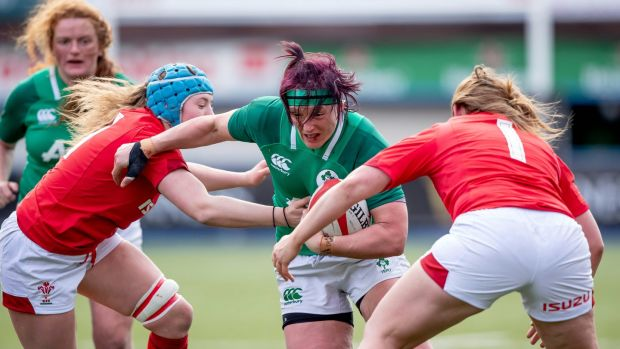 Lindsay Peat in action against Wales on Sunday. Photograph: Morgan Treacy/Inpho