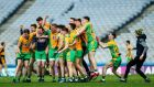 Corofin players celebrate their All-Ireland senior club final victory over Dr Crokes at Croke Park. Photograph: James Crombie/Inpho