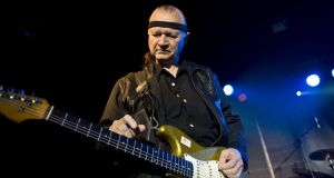 Dick Dale:  performing in 2010 in Barcelona. His 1961 hit, Let's Go Trippin', is considered the first surf rock instrumental. Photograph: Photo by Jordi Vidal/Redferns