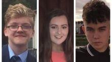 From left, Morgan Barnard, Lauren Bullock and Connor Currie
